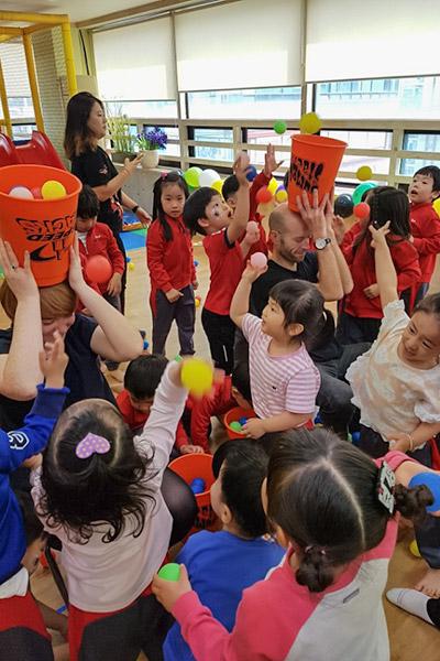 Teaching English in Korea: Work, Travel & Save - Kindergarten Games Day