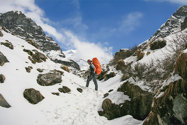 Things You Should Know About Travel Insurance: Trekking to Annapurna Base Camp in the snow, Nepal