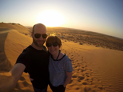 About Going the Whole Hogg: Kim and Del at Wahiba Sands