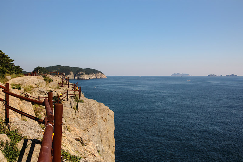 Yokjido A Korean Island Guide - View from the rocks near Yokjido Suspension Bridge