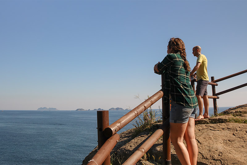 Yokjido A Korean Island Guide - Looking out from the rocks near Yokjido Suspension Bridge