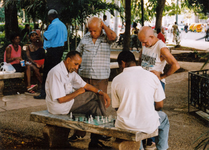 Cuba on Film - A Game of Chess in the Park, Havana, Cuba