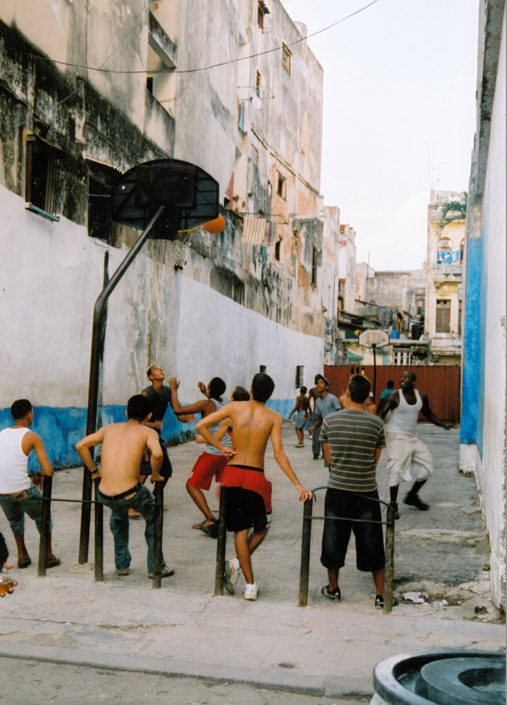 Cuba on Film - A Makeshift Basketball Court on the Streets of Havana, Cuba