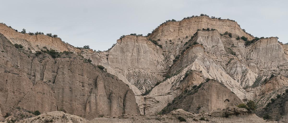 The wind eroded Alesilebi cliffs in Pantishara Canyon, Vashlovani Nature Reserve