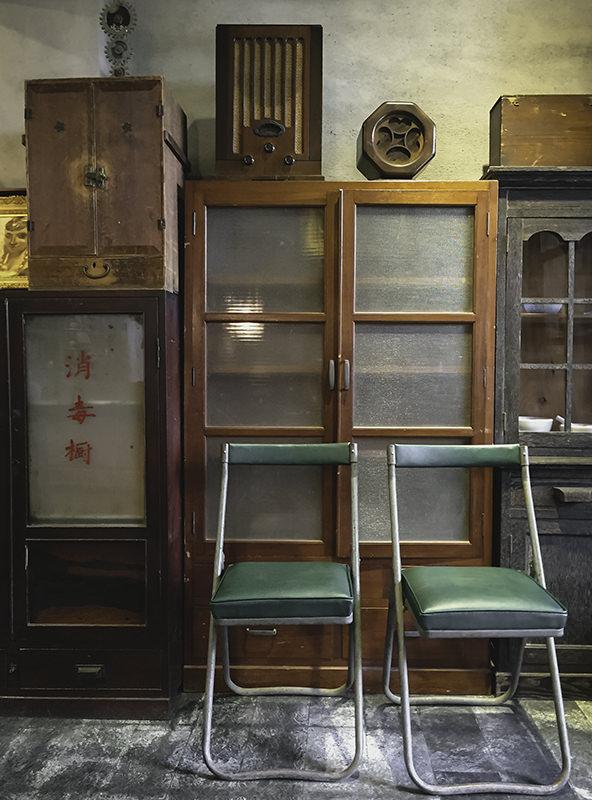 Vintage furniture in Asuka Antique, Tainan