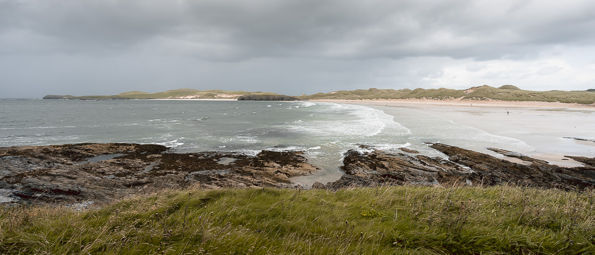 The sweeping golden sands of Balnakeil Beach near Durness, the most northwesterly town in Scotland and one of the main hubs on the North Coast 500 route.