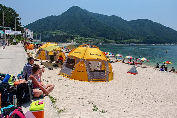 Bijindo Island Beach in Summer, Korea
