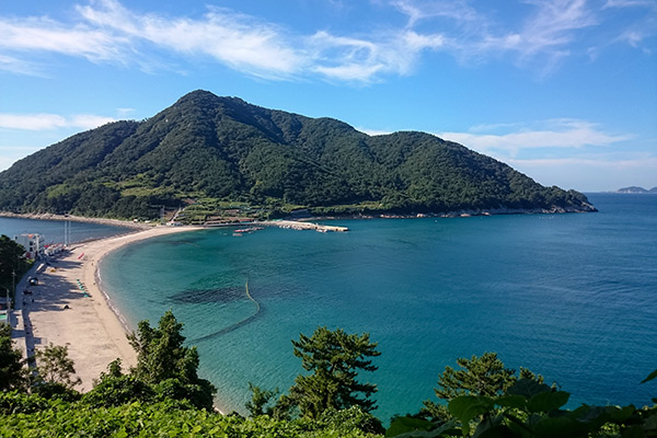 View Over Bijindo Island, Korea