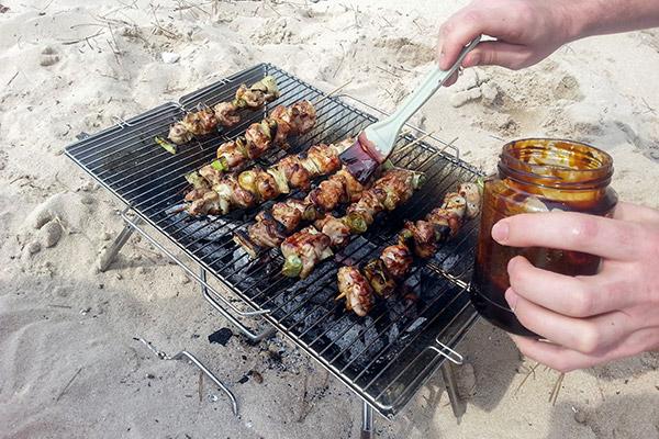 BBQ on the beach, Bijindo Island, Korea