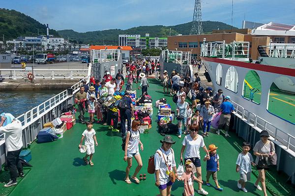 Tongyeong Ferry to Bijindo, Korea