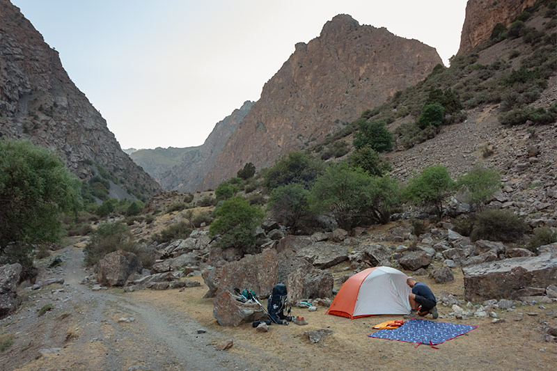Independent Trekking In The Fann Mountains, Tajikistan: Haft Kul to Alauddin - Camping by the Sarymat River