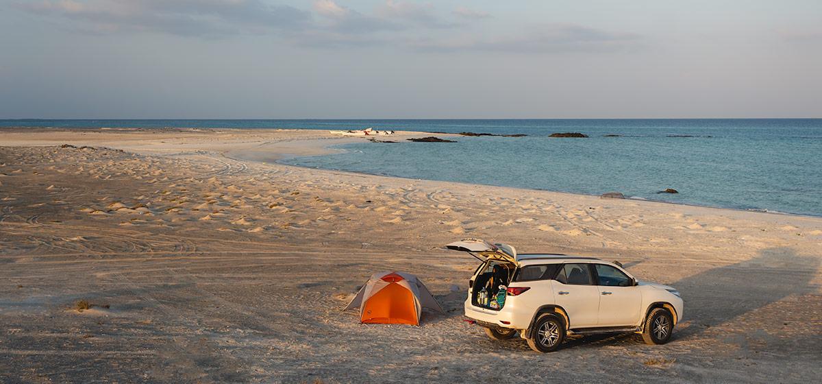 Camping on Masirah Island's west coast