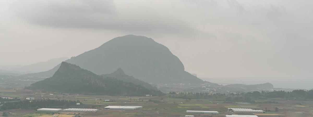 Cloudy view of Sambangsan from Moseul-bong