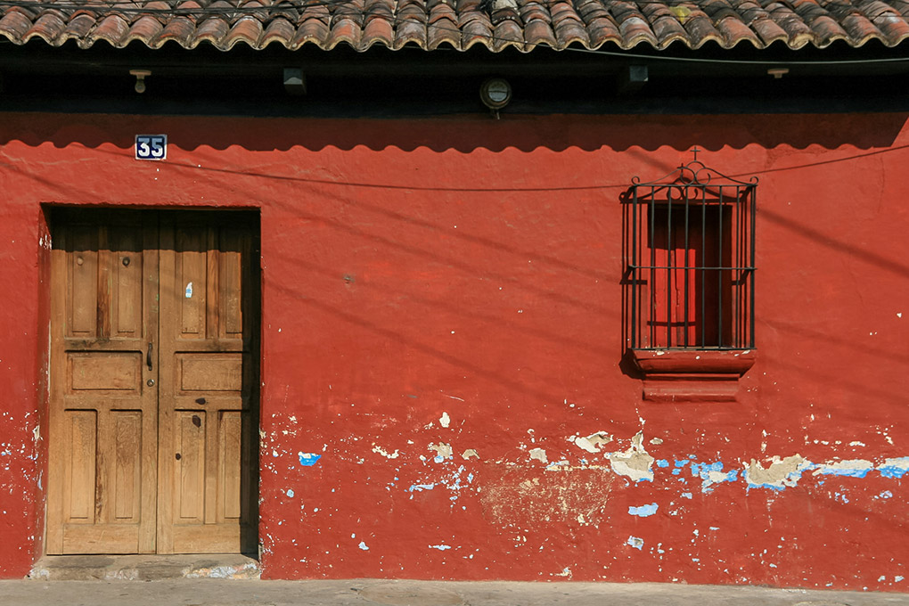 Colourful House, Antigua, Guatemala