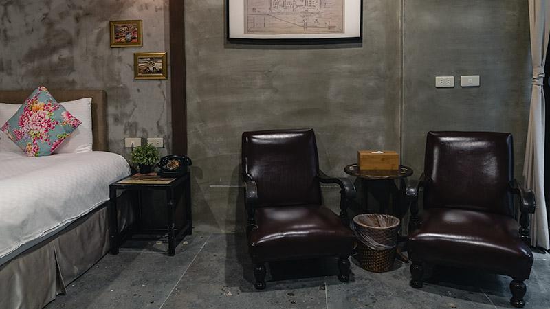 The retro room at the Jian Shan Hotel in Dadaocheng, Taipei's oldest neighbourhood