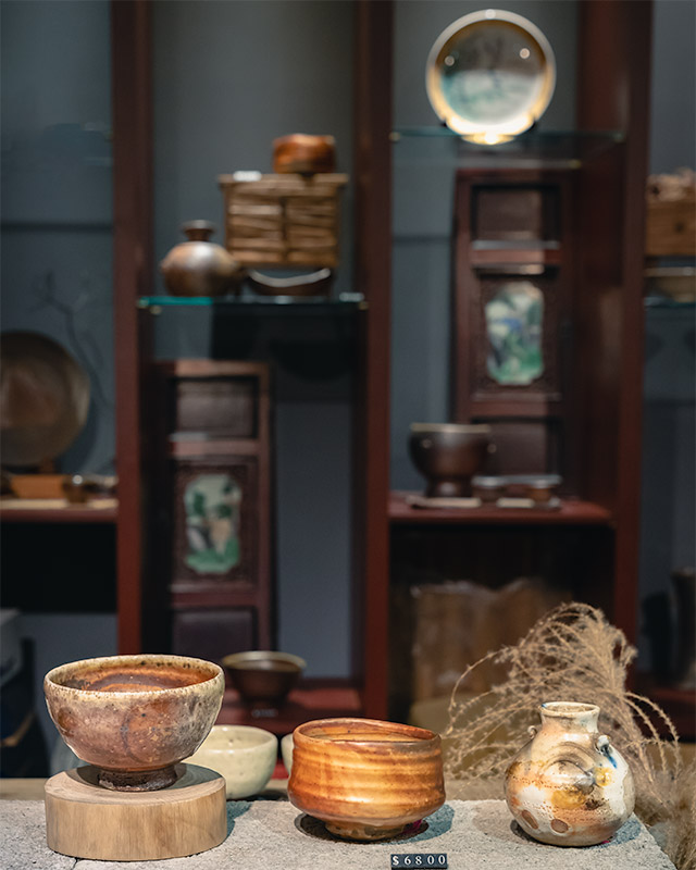 Pottery on display at a store in Dadaocheng, Taipei's oldest neighbourhood