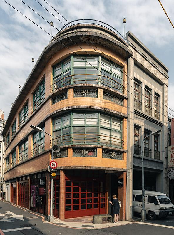 The three story corner facade of Museum 207 in Dadaocheng, Taipei's oldest neighbourhood