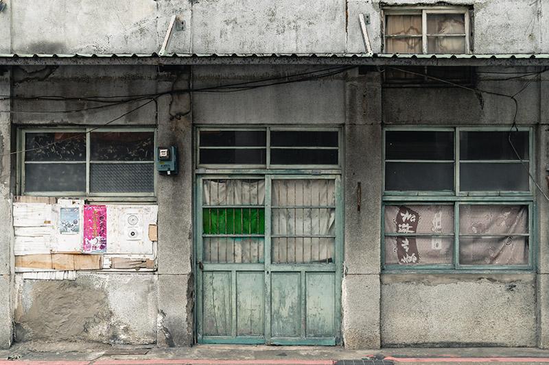A worn but charming facade in Dadaocheng, Taipei's oldest neighbourhood
