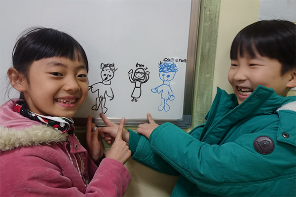 Teaching English in Korea: Work, Travel & Save - Portraits drawn by our students