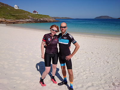 About Going the Whole Hogg: Kim and Del on Vatersay Beach