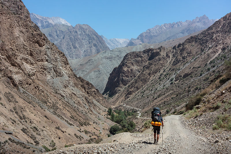 Independent Trekking In The Fann Mountains, Tajikistan: Haft Kul to Alauddin - Heading down to the Archamaidan River