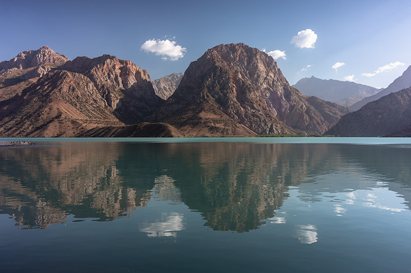 Independent Trekking In The Fann Mountains, Tajikistan: Haft Kul to Alauddin - Delicious reflections at Iskanderkul, the biggest lake in the Fann Mountains