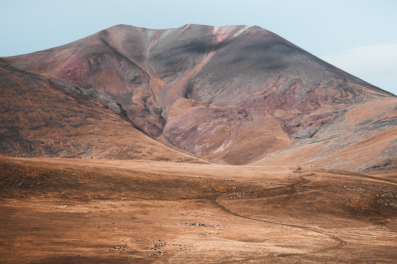 The colourful south face of Didi Abuli on the Javakheti Plateau in Georgia