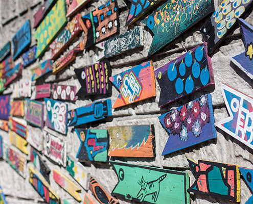 Essential Busan City Guide - Fish Wall at Gamcheon Culture Village