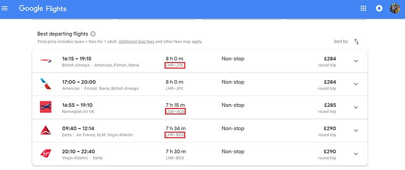 Search multiple destinations to score the cheapest flight price