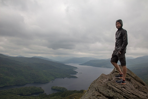 Ultimate Glasgow Guide: Standing at the peak of Ben A'an overlooking Loch Katrine, The Trossachs National Park