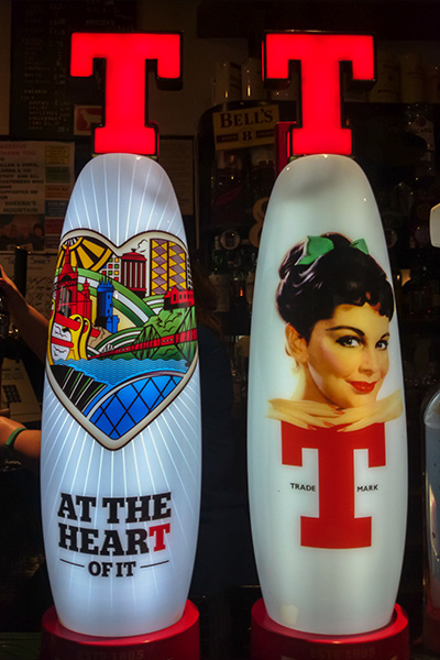 Ultimate Glasgow Guide: Retro Tennent's Lager Bar Fonts, Glasgow