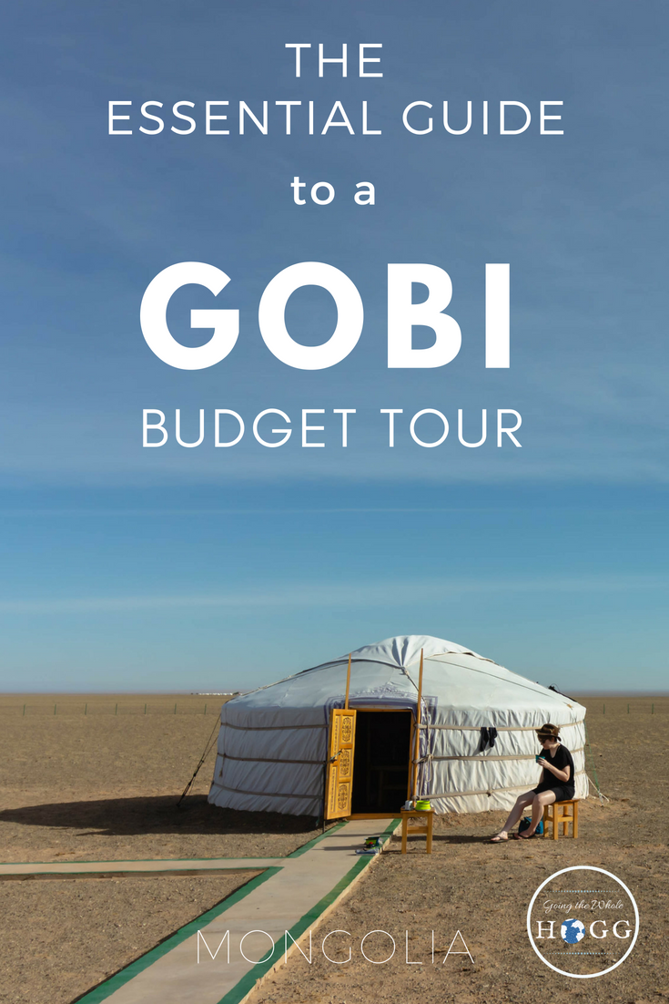 Everything you need to know to organise a budget tour to the Gobi Desert, Mongolia. A highlight of any trip to Mongolia, the Gobi is vast, beautiful & so much more than just a desert. With next to no public transport in or around the region, a budget tour from Ulaanbaatar is the best way to see it. In this essential guide you\'ll find out what to expect on a trip, how to book it & what to take with you. Mongolia Travel | Mongolia Cheap | East Asia Travel #Mongolia #Travel via @goingthewholehogg