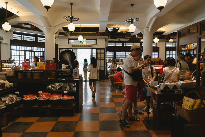 The Ground Floor of Hayashi Department Store in Tainan, truthfully restored to its elegant 1930s aesthetic, with dark wood, high white ceilings, period windows and soft lighting