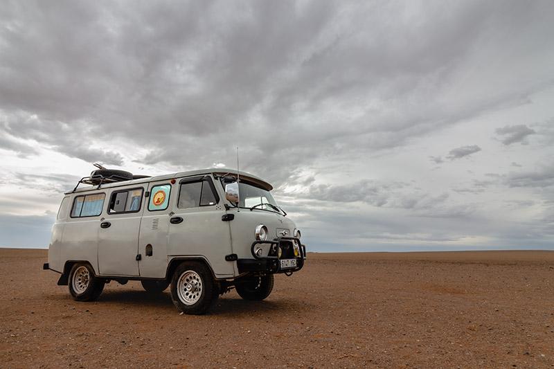 Budget Gobi Tour: Russian Van in the Gobi, Mongolia