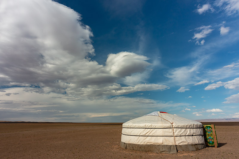 7 Days In The Gobi: A traditional Mongolian ger in the Gobi Desert