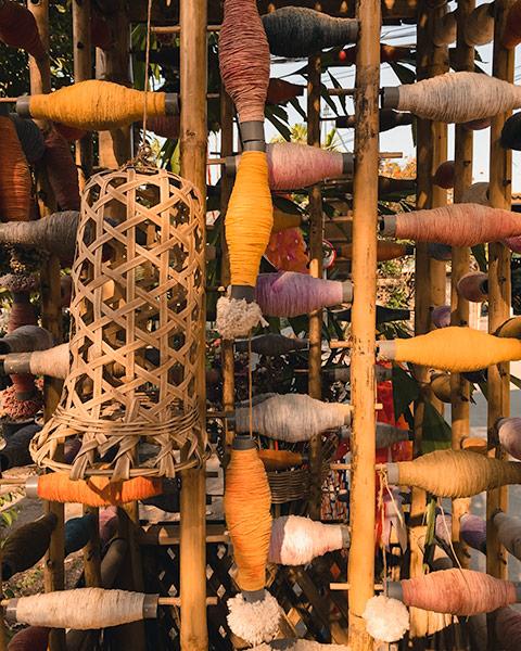 Handicrafts at Chamchaa market around Chiang Mai