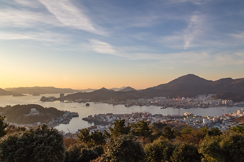 Sunrise over Tongyeong from Bukporu
