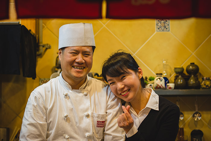 The amazing Chef Jang and his wonderful wife in their charming Tongyeong restaurant
