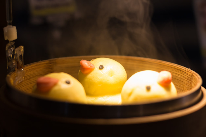 Images of Taiwan: Steamed buns dressed up as cute chicks at Raohe St. Night Market in Taipei