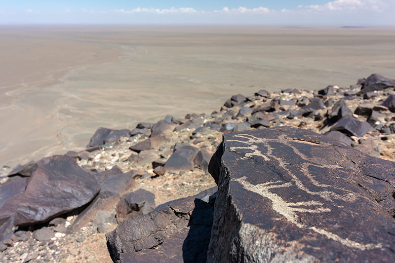 7 Days In The Gobi: The view from the Khavtsgait petroglyphs in the Gobi Desert, Mongolia
