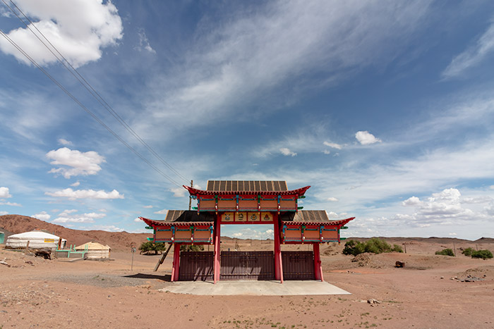 Budget Gobi Tour: The gate to Ongi Monastery in the Gobi, Mongolia