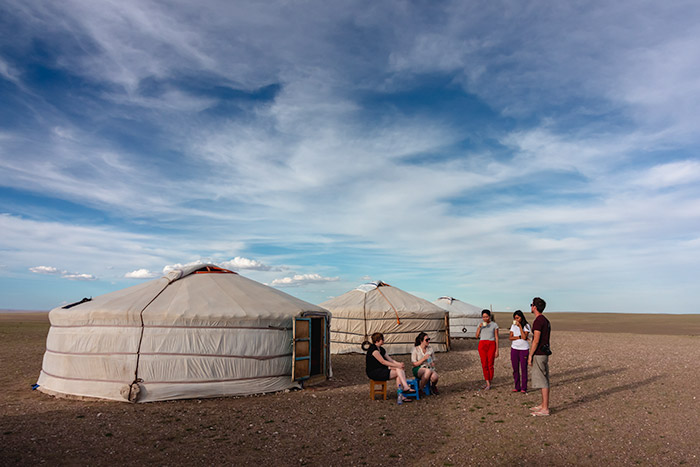 Budget Gobi Tour: Hanging out at golden hour in the Gobi, Mongolia