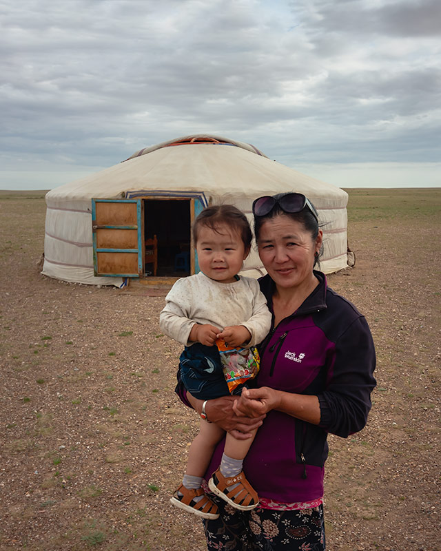 7 Days In The Gobi: Mum and son, nomadic hosts in the Gobi Desert, Mongolia