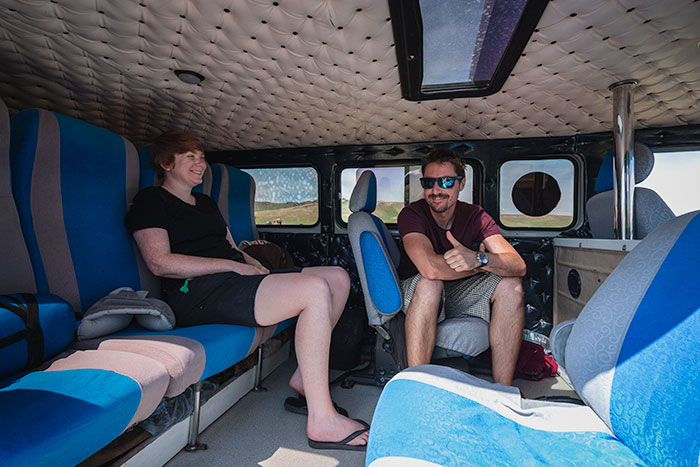 Budget Gobi Tour: Chillin' in the Russian van, Gobi tour, Mongolia