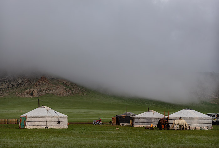 Budget Gobi Tour: Misty morning in Central Mongolia