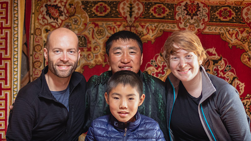 7 Days In The Gobi: Warmly welcomed by a traditional nomad family in the Khogno Khan Mountains in Central Mongolia
