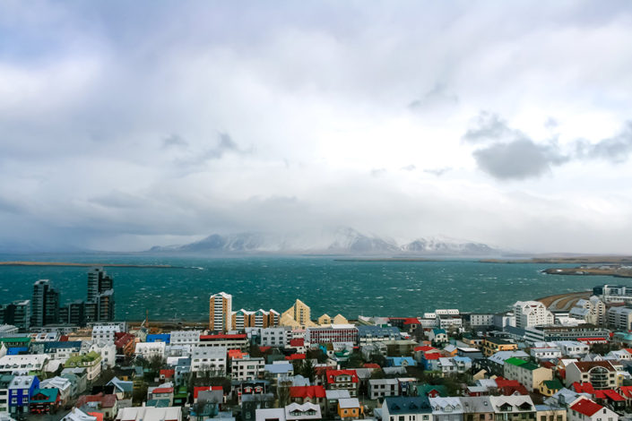 A week in Iceland - A view over Reykjavik and beyond from Hallsgrimskirkja Church
