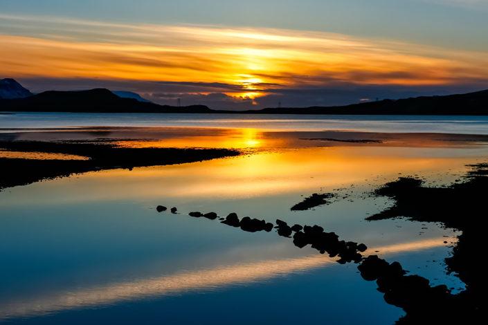 A week in Iceland - Sunset over Hvalfjord, Iceland