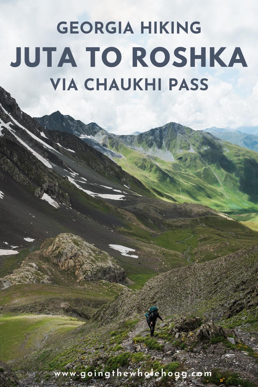 Hiking from Juta to Roshka via Chaukhi Pass