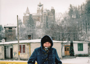 About Going the Whole Hogg: In front of Bran castle on a Snowy day